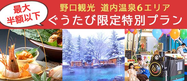半額 北海道 温泉