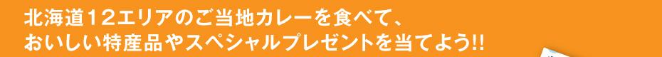 北海道12エリアのご当地カレーを食べて、 おいしい特産品やスペシャルプレゼントを当てよう!!