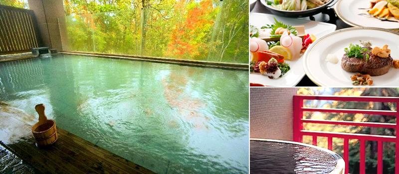 ニセコ昆布温泉 ホテル甘露の森の温泉、料理の一例