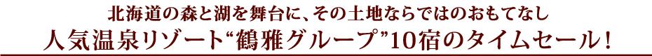 鶴雅グループ10宿のタイムセールプラン