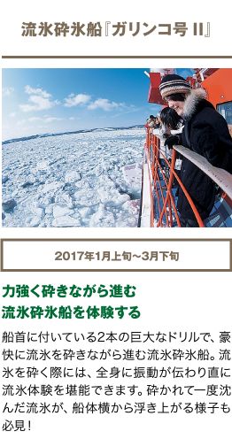 流氷砕氷船『ガリンコ号II』