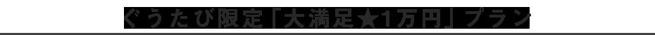 ぐうたび限定「大満足★1万円」プラン