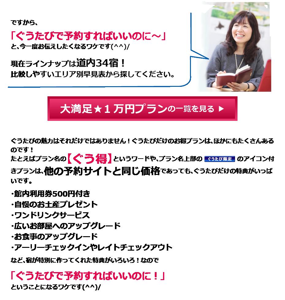 大満足1万円プラン一覧を見る