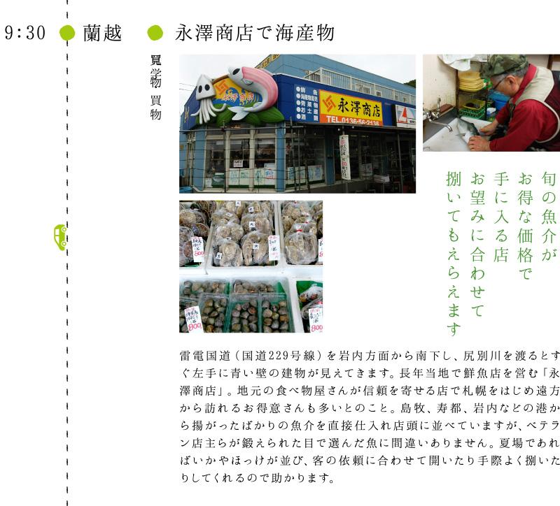 永澤商店で海産物