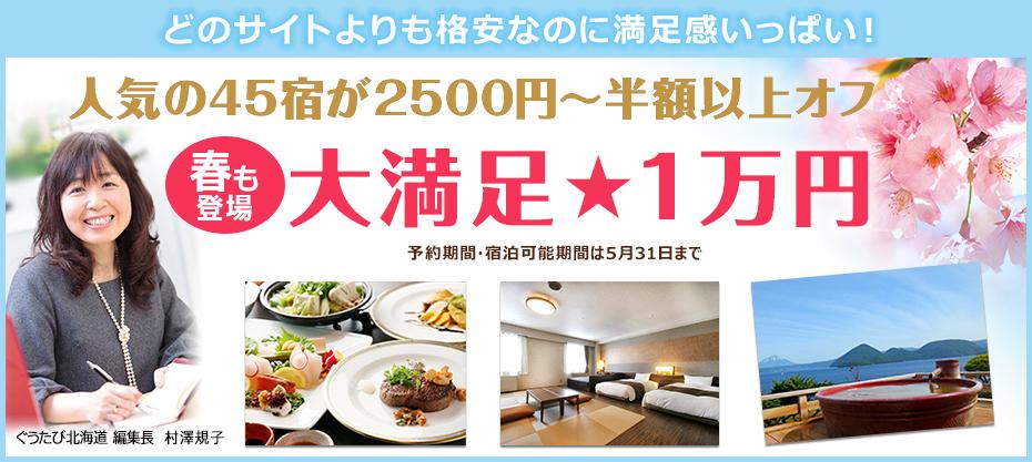 道内人気27宿が2500円から半額以上オフ!冬の大満足1万円