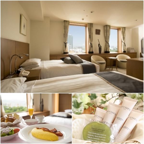 札幌パークホテルの客室と朝食、アメニティ