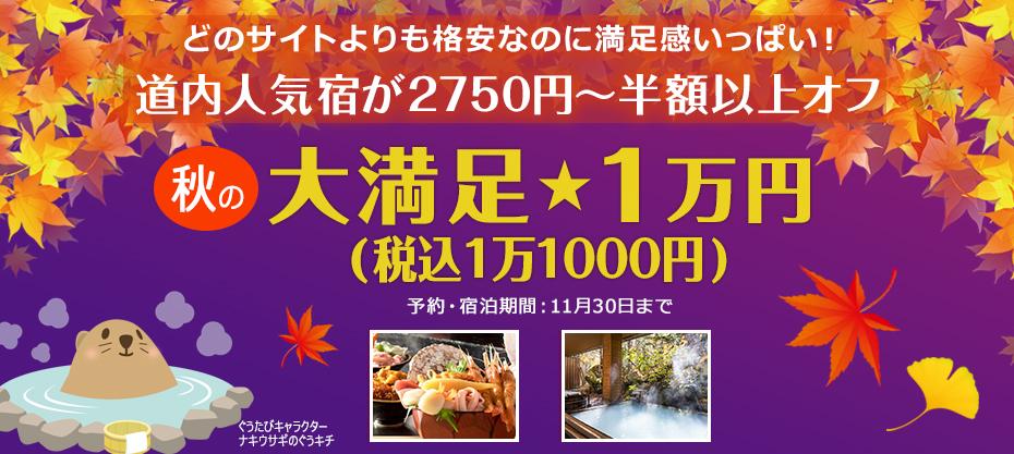 どのサイトよりも格安 大満足1万円(税込1万1000円)プラン