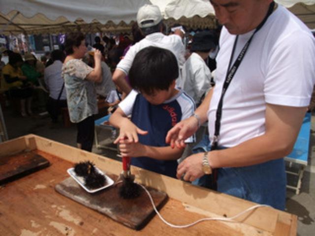 日本一の味覚 天売ウニまつり